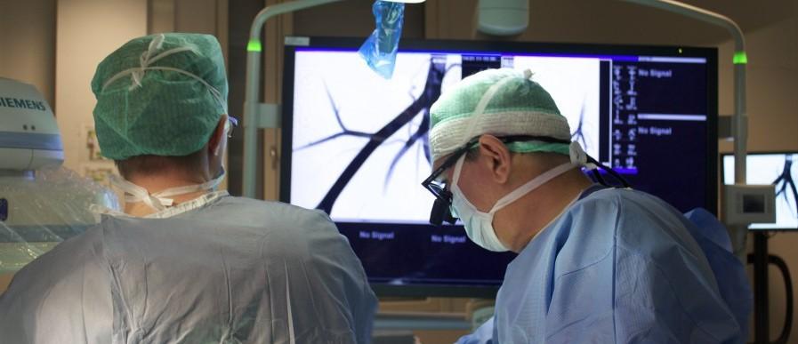 Erney Mattsson during surgery at St Olavs Hospital, Trondheim